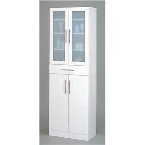 食器棚/キッチン収納 【スマートダイニング】 幅60cm×奥行38cm×高さ180cm 【組立】 - 拡大画像