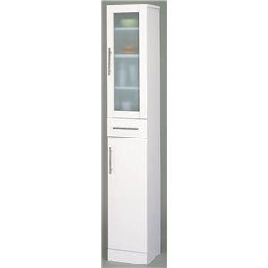 食器棚/キッチン収納 【スマートダイニング】 スリムタイプ 幅30cm×奥行38cm 【組立】 - 拡大画像