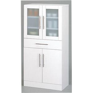 食器棚/キッチン収納 【スマートダイニング】 幅60cm×奥行38cm×高さ120cm 【組立】 - 拡大画像