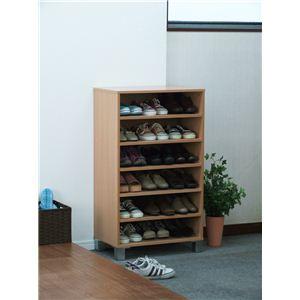 オープンシューズボックス(靴箱/下駄箱) 【幅60cm】 ナチュラル 【組立】 - 拡大画像