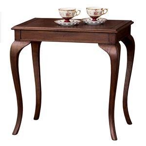 コーヒーテーブル 木製 アンティーク調家具 猫足 【完成品】 - 拡大画像