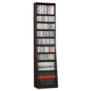 SOHO 書棚/本棚 【幅45cm】 可動棚付き スリムタイプ ブラウン 【組立】 - 拡大画像