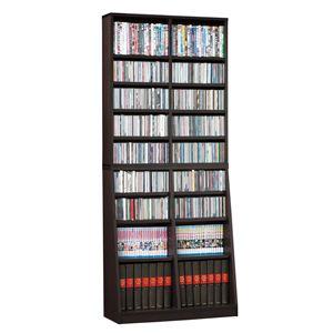SOHO 書棚/本棚 【幅75cm】 可動棚付き ブラウン 【組立】 - 拡大画像