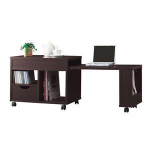 《アイデア家具工房》PCを収納できる!ドロア センターテーブル ブラウン 40305 【完成品】 - 拡大画像