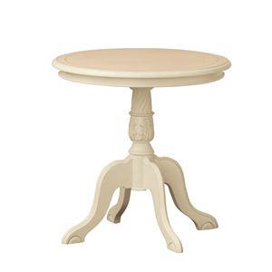 《アンティーク調家具》コモ テーブル ホワイト 92168 【完成品】 - 拡大画像