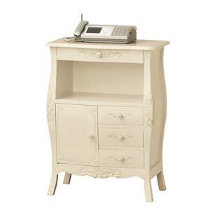 《アンティーク調家具》コモ ファックス台 ホワイト 92172 【完成品】 - 拡大画像