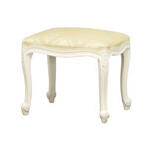 《アンティーク調家具》フランシスカスツール ホワイト 92176 【完成品】 - 拡大画像