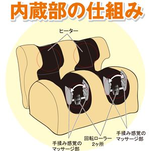 マッサージ器具/足もみヒーター付き オートオフタイマー機能付き