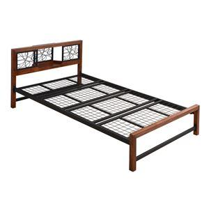 おしゃれでシンプルなベッド コンセント付き JKプラン ジョイントパイプベッド