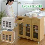 Lycka land キャビネット90cm幅 FLL-0004-NA ナチュラル
