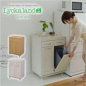 Lycka land ダストボックス FLL-0008-WH ホワイト