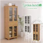 Lycka land 食器棚 60cm幅 FLL-0011-NA ナチュラル