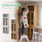 Lycka land 食器棚 60cm幅 上置きセット FLL-0011SET-NA ナチュラル