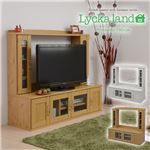 Lycka land 壁面収納テレビ台 ロータイプ130cm幅 FLL-0021-NA ナチュラル の画像