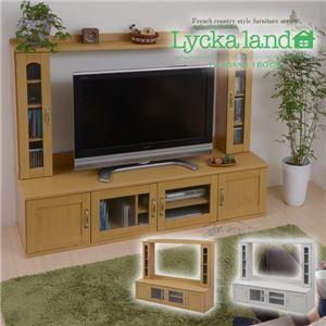 Lycka land 壁面収納テレビ台 ロータイプ160cm幅 FLL-0022-NA ナチュラル