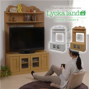 Lycka land コーナーテレビボード(小) FLL-0023-NA ナチュラル