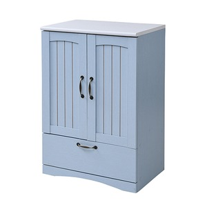 フレンチカントリー家具 チェスト&キャビネット 幅60 フレンチスタイル ブルー&ホワイト - 拡大画像