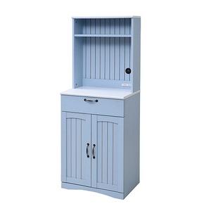 フレンチカントリー家具 カップボード 幅60 フレンチスタイル ブルー&ホワイト