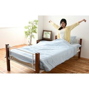 接触冷感素材 ひんやり寝具 クール寝具 布団6点セット ブルー