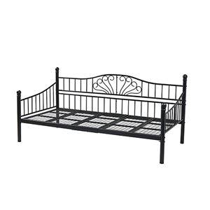 アイアン デイベッド シングル 2style×2way ソファ ベッド 高さ調節 床下収納 ブラック LNGXX0002BK99