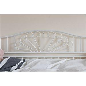 アイアン デイベッド シングル 2style×2way ソファ ベッド 高さ調節 床下収納 ホワイト LNGXX0002WH99