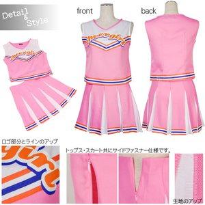 新色追加!! ときめきチアガール☆7color【コスチューム/イベント】 ピンク Lサイズ