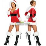 クリスマス婦人服サンタコスチュームクリスマスcosplayX'masグッズクリスマスのワンピースFREESIZE