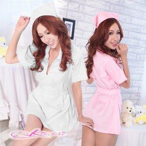 【3color】ナースコスプレ*看護服 ピンク