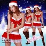 【 X'mas】ブラのクリスマス衣装・サンタさん【3点入り】