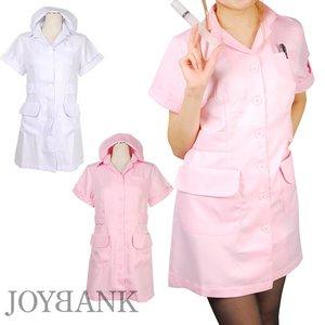 白衣の天使☆ナース服シングルタイプ【看護服】Lサイズ ピンク