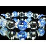 ☆ブルークラック水晶×ヘマタイト数珠(化粧箱付)