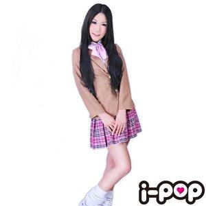AKB ブレザー服 チェックスカート&リボン (桜タイプ) - 拡大画像