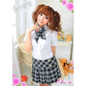 新作 黒ブレザーのキュート女子高生制服コスプレ/z898