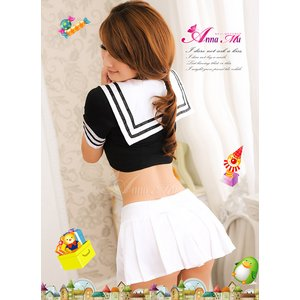胸元セクシーミニスカセーラー服コスチューム3点セット/コスプレ/z449