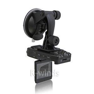 2画面モニター&前後レンズ付き120度広角暗視撮影車載ドライブレコーダー - 拡大画像