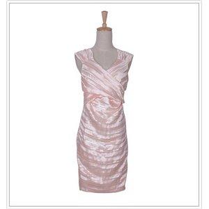 カシュクールドレープドレス ピンク