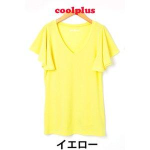 philter★[CoolPlus]紫外線カットフレアスリーブTシャツ/イエローLサイズ - 拡大画像