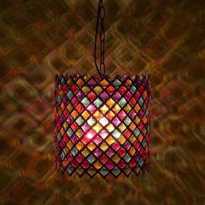 ●NEW●豪華でアンティーク調なランプ♪ トルコ モザイク ランプ♪ - 拡大画像