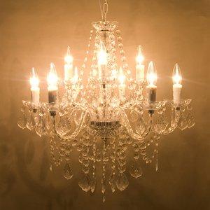 取付簡単♪豪華でアンティーク調☆シャンデリア9灯♪Chateau (シャトー)♪クリアー♪ - 拡大画像