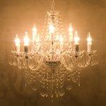 取付簡単♪豪華でアンティーク調☆シャンデリア9灯♪Chateau (シャトー)♪クリアー♪