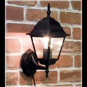 オシャレな外灯風なデザイン♪アベニューウォールランプ♪スクエア/ブラック - 拡大画像