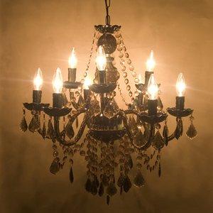 取付簡単♪豪華でアンティーク調☆シャンデリア9灯♪Chateau (シャトー)♪ブラック♪ - 拡大画像