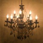 取付簡単♪豪華でアンティーク調☆シャンデリア9灯♪Chateau (シャトー)♪ブラック♪