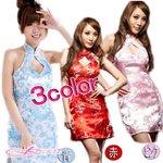 【3color】チャイナドレス&ショーツコスプレ/青