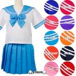 新色追加!10色のビタミンカラー☆セーラー服★10color♪【コスプレ/制服】/パープルMサイズ
