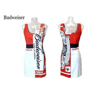 Budweiser ニューバドガール クルーネックワンピース【ホワイトM】 - 拡大画像