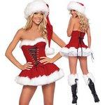 ♪♪クリスマス★ サンタ衣装★コスチューム★ 女性用 すカード★コスチューム♪♪