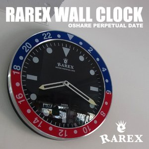 男前 時計 通販|  ラリックスウォールクロック【RAREX WALL CLOCK】/ブルーレッド