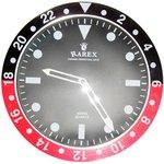 ラリックスウォールクロック【RAREX WALL CLOCK】/ブラック&レッド(赤)