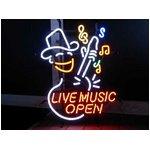 ネオンサイン【LIVE MUSIC OPEN】ライブ ミュージック オープン